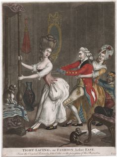 The Lewis Walpole Library  Image ID: lwlpr04124 Call Number: 777.00.00.10+ Title: Tight lacing, or, Fashion before ease from the original picture by John Collet in the...