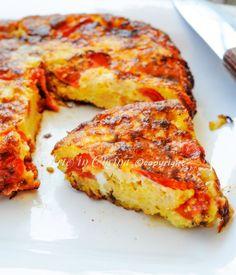 Frittata di pane ammollato e pomodorini ricetta siciliana vickyart arte in cucina