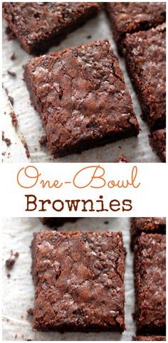 Amazingly chewy one-bowl five ingredient brownies