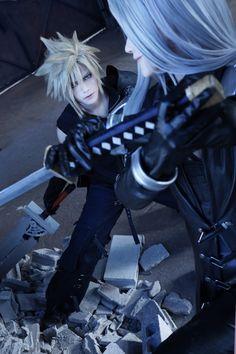 halt Sephiroth & Ray(玲) Cloud Strife   Final Fantasy VII  @WorldCosplay #anime #cosplay