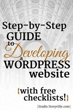 Ways To Make Extra Money Discover A Step-by-Step guide to developing WordPress websites (with FREE checklists! Wordpress For Beginners, Blogging For Beginners, Blogging Ideas, Site Wordpress, Wordpress Plugins, Learn Wordpress, Wordpress Admin, Business Website, Business Tips