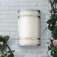 """Bay View 12"""" High Stainless Steel Outdoor Wall Light"""