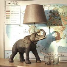 Elephant Table Lamp - Table Lamps - Lighting - Lighting & Mirrors