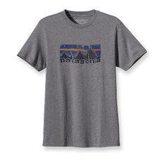 Patagonia Men's Woven Label Logo T-Shirt