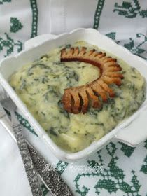 Spenótos krumplifőzelék Hungarian Recipes, Food Inspiration, Mashed Potatoes, Healthy Living, Food And Drink, Vegan, Ethnic Recipes, Foods, Kitchen