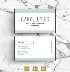 Cute Business Card Template By Blank Studio On Creativemarket