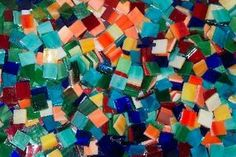 MASON'S TROPICAL MIX stained glass mosaic tiles- for tray