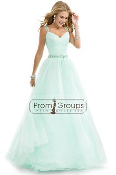 2014 Prom Dresses Tulle Ball Gown With Jeweled Straps Yellow Open Back
