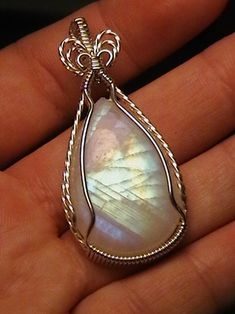 Moonstone Pendant, Wire Pendant, Wire Wrapped Pendant, Wire Wrapped Jewelry, Moonstone Jewelry, Wire Jewelry Patterns, Wire Jewelry Designs, Handmade Wire Jewelry, Jewelry Ideas