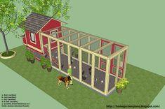 home garden plans: L102 - Chicken Coop Plans Construction - Chicken Coop Design - How To Build A Chicken Coop Large Chicken Coop Plans, Chicken Coop Blueprints, Small Chicken Coops, Portable Chicken Coop, Best Chicken Coop, Chicken Coop Designs, Backyard Chicken Coops, Chicken Runs, Chickens Backyard