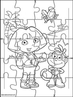 Printable Jigsaw Puzzles To Cut Out For Kids Dora The Explorer 43 Coloring Pages