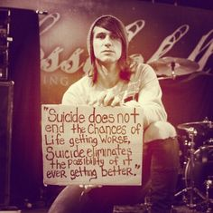 Beau Bokan/Blessthefall against suicide