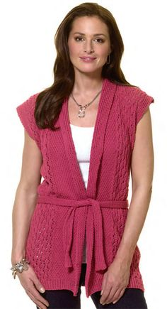 """""""Vest For All Seasons"""" -- a free project from Knit 'n Style!"""