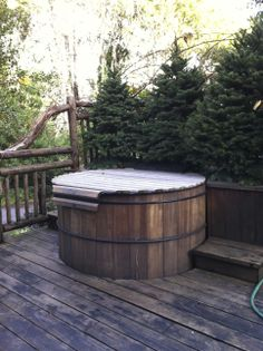 Hot tub on deck at Mankas fishing cabin Hot Tub Deck, Hot Tubs, Cabin Ideas, Outdoor Furniture, Outdoor Decor, Decks, Pools, Fishing, Mountain