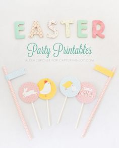 Easter Party Printables. Fun ideas for your Easter party.