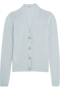 Miu Miu | Crystal-embellished cashmere cardigan | NET-A-PORTER.COM