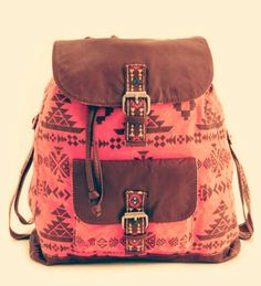 Aztec backpack.