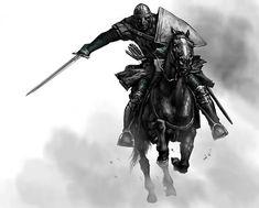'Mount & Blade ' Poster by Kkona Fantasy Concept Art, Fantasy Character Design, Fantasy Artwork, Character Art, Medieval Knight, Medieval Art, Medieval Fantasy, Knight On Horse, Knight Art