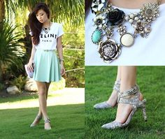 Sheinside Top, Choies Heels, Windsor Skirt