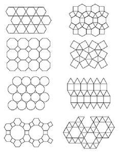 Regular and irregular Tesselations