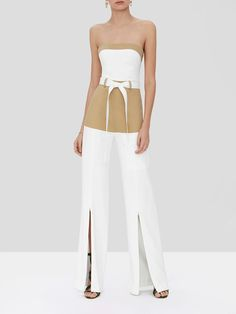 Office Uniform For Women, Stylish Outfits, Cute Outfits, Strapless Jumpsuit, Fashion Design Sketches, Clothing Labels, How To Look Classy, Chic, Nice Dresses