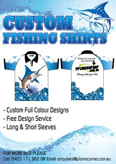 Custom fishing shirts for Fishing tournaments or casual wear with mates. Custom Fishing Shirts, Fishing Magazines, Fishing Tournaments, Fish Design, Casual Wear, The Incredibles, Ideas, Casual Clothes, Casual Outfits