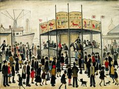 The Fairground (1930s) by L.S. Lowry