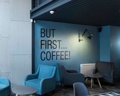 But First Coffee Wall Decal – İndustrial Office Office Wall Design, Office Wall Decor, Office Walls, Office Art, Office Interior Design, Interior Walls, Office Interiors, Home Interior, Home Office