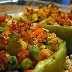 Looking for a healthy stuffed pepper recipe? Give this a whirl! #CleanEating
