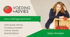 Voeding + Advies is de praktijk van Gaby Herweijer. Zij is geregistreerd diëtist en heeft de master gezondheidswetenschappen afgerond. Voor begeleiding bij overgewicht, coeliakie, het FODMAP-dieet en meer.