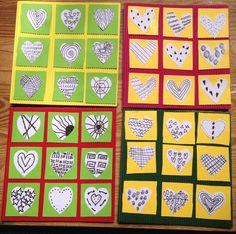 Carte carton ondulé et cœur feutre fin