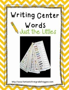 "I have had a lot of requests for a bundle with ""just the little"" word charts, so here you go: Writing Center Tools- Just the Littles"