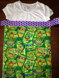 Ninja Turtle dress on Etsy, $30.00