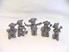 Pewter Dog Band 5 Piece Band by A P C 1977 | eBay