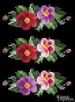 "Gallery.ru / pustelga - Альбом ""small маленькие схемы"" Cross Stitch Charts, Cross Stitch Patterns, Stitch Cartoon, Flower Coloring Pages, Needlework, Floral, Flowers, Dots, Patterns"