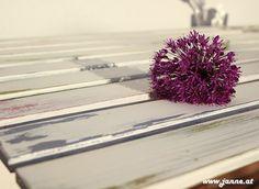"""Shabby chic Ikea Gartentisch mit Kalkfarben """"Old Style"""""""