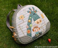 Japanese Patchwork, Patchwork Bags, Quilted Bag, Diy Bags Patterns, Animal Bag, Diy Bags Purses, Fabric Bags, Kids Bags, Kids Backpacks