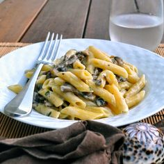 Cooking with Manuela: Penne Pasta with Creamy Mushrooms and Taleggio Che...