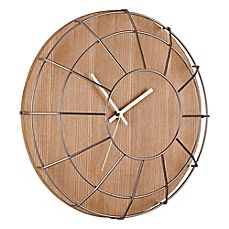 image of Umbra Cage Wall Clock in Natural