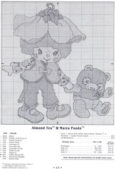 Welcome To The World Of Strawberry Shortcake: Almond Tea and Marza Panda