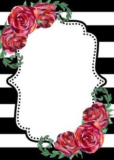 Flower Background Wallpaper, Framed Wallpaper, Frame Background, Flower Backgrounds, Wallpaper Backgrounds, Iphone Wallpaper, Frame Floral, Rose Frame, Invitation Background