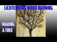 Lichteneberg Wood Burning Making A Tree - YouTube