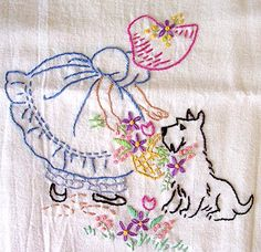 applique tea towel patterns | Embroidery Patterns For Tea Towels