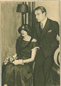 Rudolph Valentino and Natacha Rambova                                                                                                                                                                                 More