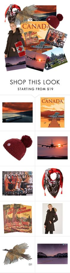 """""""Postcards from Canada"""" by alexxa-b ❤ liked on Polyvore featuring Columbia, Canada Goose, Desigual, Casetify and canada"""