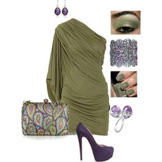 Purple and Sage, created by nichole-stein-clinger.polyvore.com