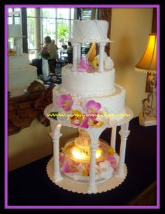 orchids with fountain wedding cake 19.JPG