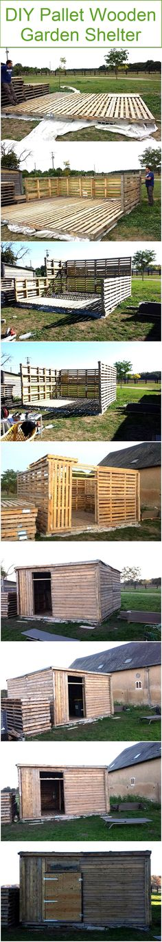 The good thing about this particular project is that each and every step is shown here in detailed manner like you would be witnessing the whole progress of the garden shelter as it proceeds towards the completion. So this is basically a DIY pallet wood project that we urge you to try.