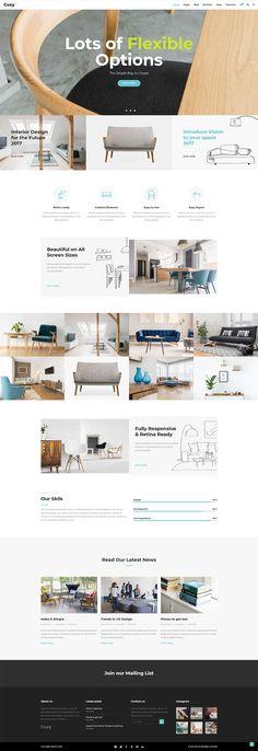 Introduce your interior design business easily with Cozy WordPress theme. Interior Design Themes, Interior Design Business, Layout Design, Web Design, Creative Portfolio, How To Introduce Yourself, Wordpress Theme, Cozy, Studio
