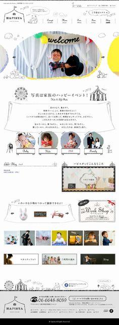 The website 'http://happy-photo-studio.jp/' courtesy of @Pinstamatic (http://pinstamatic.com)